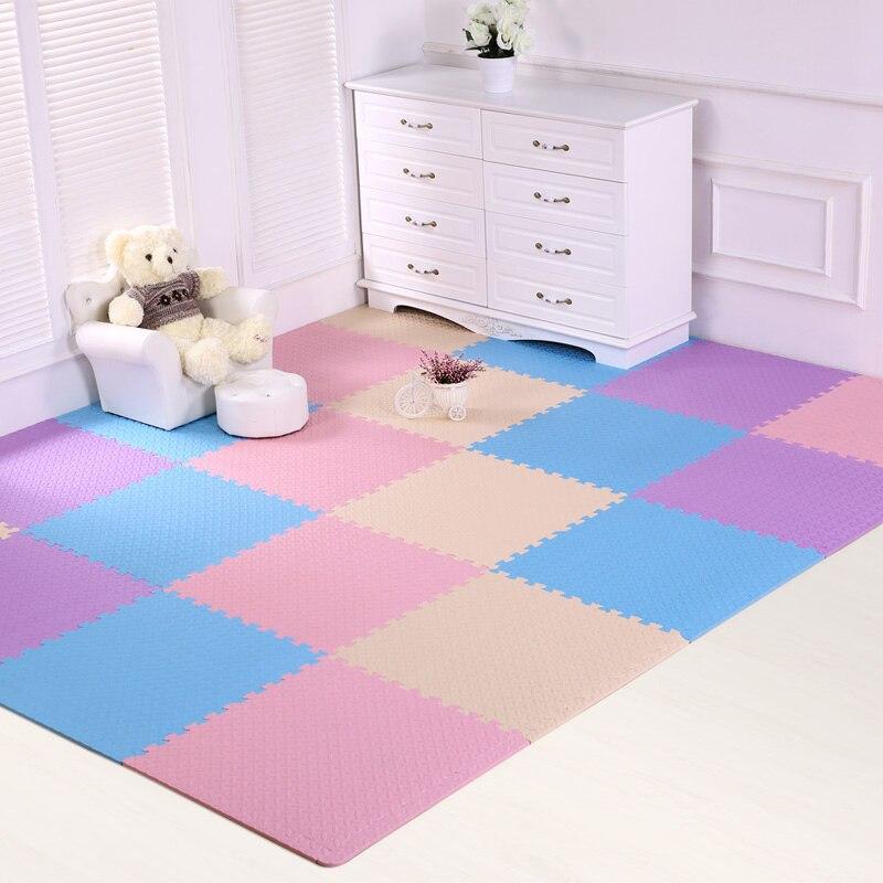 JCC mélange feuille motif bébé EVA mousse Puzzle tapis de jeu/enfants tapis tapis de verrouillage exercice plancher pour enfants carreaux 60*60*1.2 cm - 4