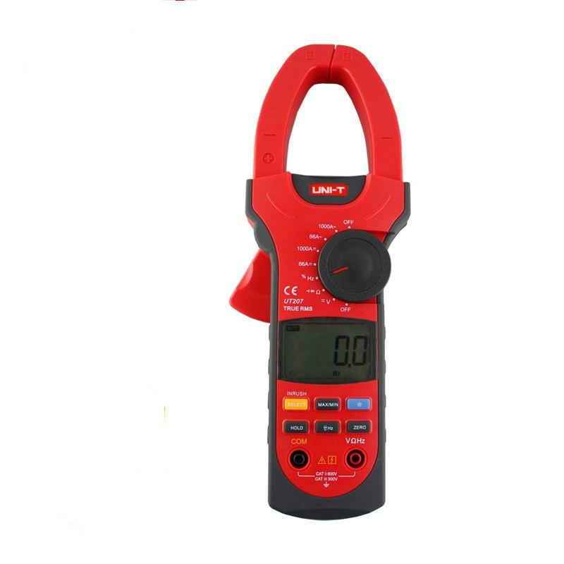 UNI-T UT207 1000A Digital Clamp Meters Measure Multimeters Auto Range Resistance AC DC Voltage true RMS uni t ut209a true rms professional auto manual range 4000 counts 1000a digital clamp multimeters