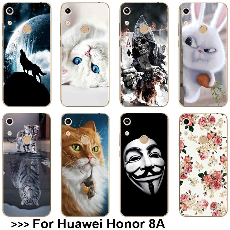 Angepasste Hüllen Gemusterten Fall Für Huawei Ehre 8a 8 Eine Jat-lx1 Weiche Tpu Für Huawei Honor 8a Fall 6,09 telefon Zurück Abdeckung Für Huawei Ehre 8a Fall Handytaschen & -hüllen