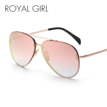 ROYAL GIRL Fashion New Women Sunglasses Metal Frame Glasses Brand Designer Glasses Female Twin Beams Eyewear Women  UV400 ss140