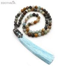 e453e03dce7d Edothala moda 10mm Amazon Cuentas Collar para las mujeres bolas de cristal  y metal borlas colgante largo Collares Turquía joyerí.