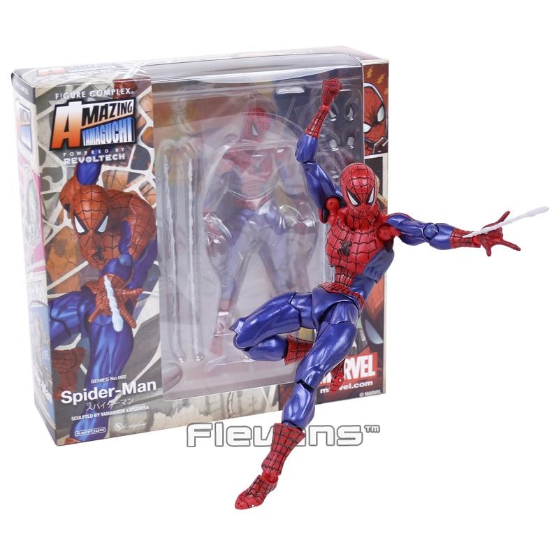 Revoltech Series NO.002 Spider Man Spiderman PVC Action Figure Collectible Model Toy 16cm superior spider man no escape