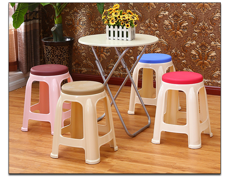 цена на North American popular plastic bar stool Reading room PP material stool blue red coffee wine color free shipping