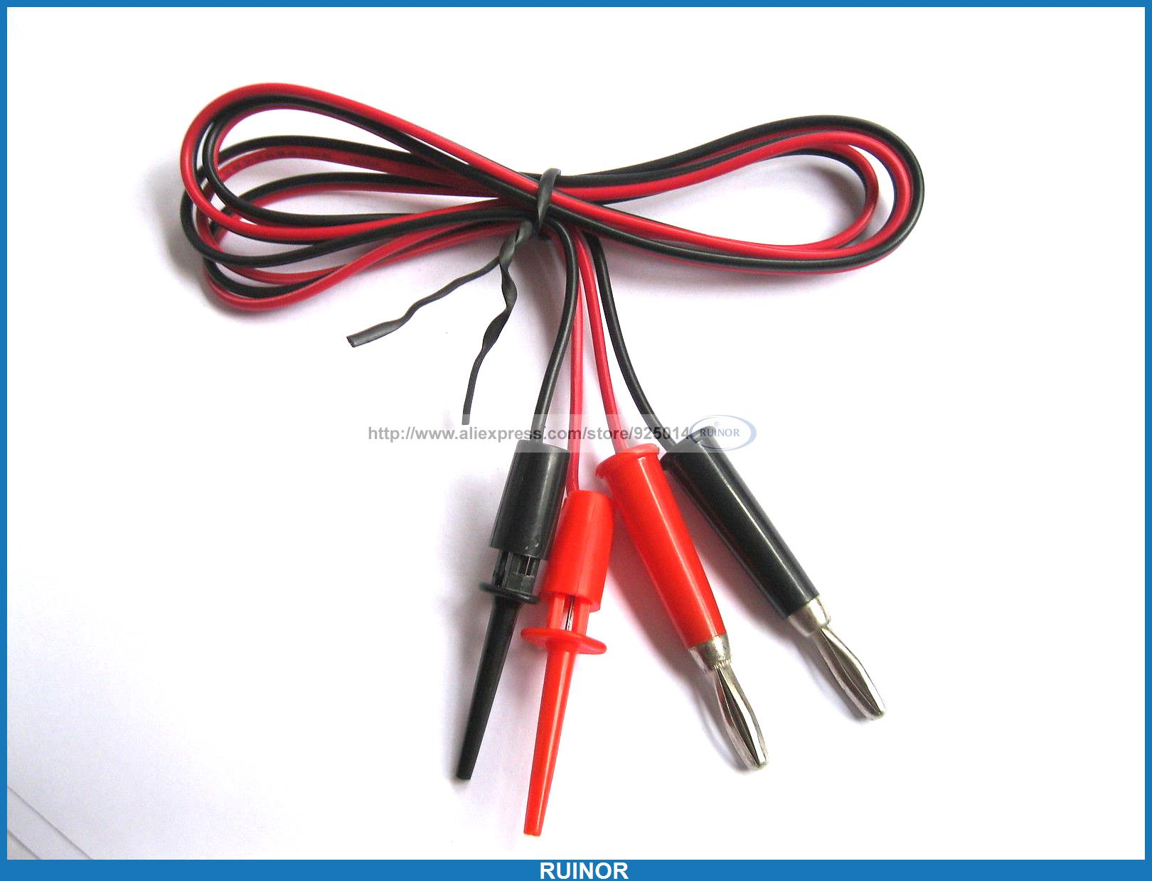 10x 4MM Right Angle Banana Plug for Test Probes Adapter Connector Red//Black