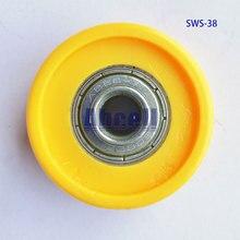 4 шт. 35 мм 38 мм или 50 мм маленький шариковый подшипник передачи пластиковые конвейеры роликовые Твердые POM транспортные части летающие коньки конвейерные колеса