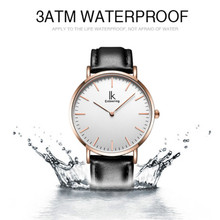 Quartz Watch Ultra Thin Minimalist Mens Watches Top Genuine Leather Strap Business Clock Men With Gift Box