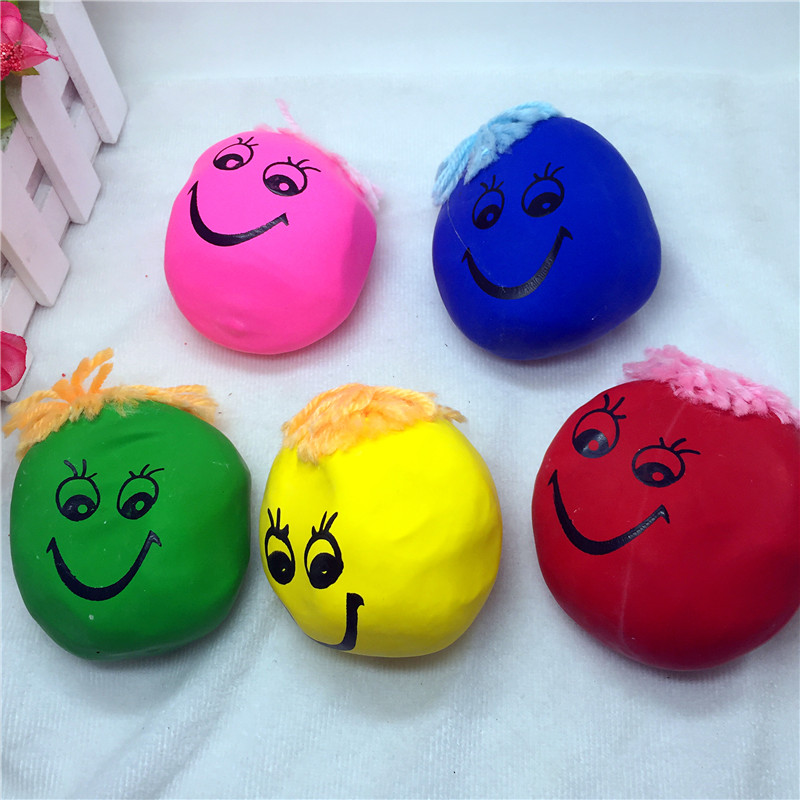 2 pcs/lot Big Size stress Relief Squeeze Toys magic smile face toy dolls for Children toy gifts