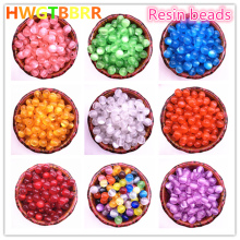 New 50pcs/lot 8mm Imitation Natural Opal Beads Round Resin Spacer for Jewelry Making DIY Bracelet