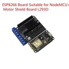 Kit de Desenvolvimento NodeMCU NodeMCU + Escudo Do Motor ESP WIFI ESP8266 ESP-12e ESP 12E Kit DIY RC Controle Remoto Brinquedo Lua IOT Inteligente carro