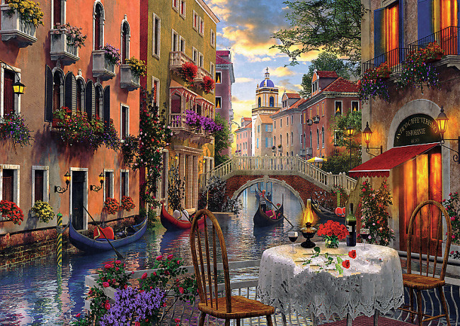 Needlework,Venice Romantic Dinner 14CT Counted Embroidery,High Quality DIY DMC Cross stitch kits,Art Cross-Stitching Home DecorNeedlework,Venice Romantic Dinner 14CT Counted Embroidery,High Quality DIY DMC Cross stitch kits,Art Cross-Stitching Home Decor
