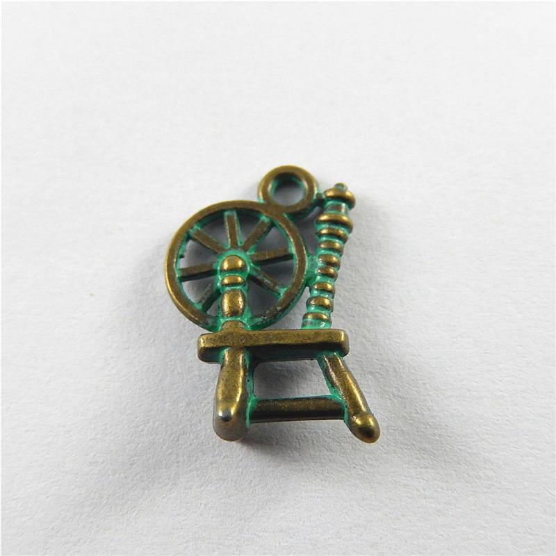 julie wang 20pcs antique green bronze charms simulated