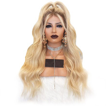 Ombre Human Hair Wig T4/613 Lace Front Wig Body Wave Deep Part 13×6 Lace Front Wigs Blonde Lace Wig 150 Density Aimoonsa REmy