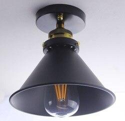 W stylu Vintage Retro Loft pułap światła przemysłowe Edison żarówka metale lekkie kraju styl kinkiety ścienne oprawy oświetleniowe amerykański dobre światło w Oświetlenie sufitowe od Lampy i oświetlenie na