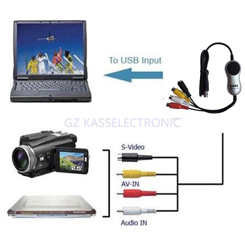 Новинка года USB2.0 устройства видеозахвата для Windows Xp/vista/7/8/10, сделайте снимок с всех Аналоговый композитный RCA выход