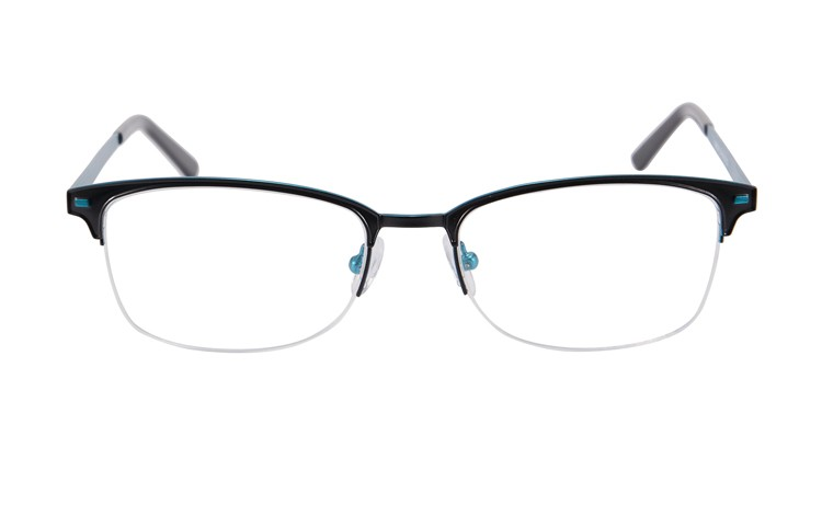 bfa332b88f Stainless steel double color plating metal Glasses Frames Woman Man  Eyeglasses Frame for Myopia Vintage Black Spectacles SR8001-in Eyewear  Frames from ...