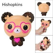 Antistress szép szemüveg Medvék squishies Toy Aranyos illatos Squishy Charm Szuper lassú emelkedő Squeeze Toys Stressel Jóga Játékok ajándék
