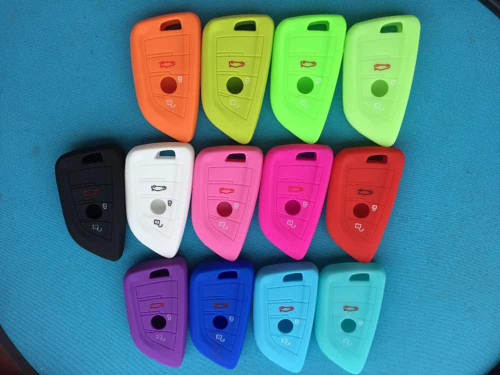 1pc New Silicone Key Cover Case 3 Buttons For BMW 1 2 5 Series 218i X1 F48 X5 X6 F15 Smart Remote Car Key Case Shell Blank
