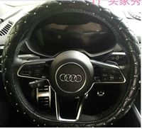 luxury 36cm 38cm 39cm 15.4inch car leather steering wheel Cover for audi TT, for bmw x5 x6, for benz etc..