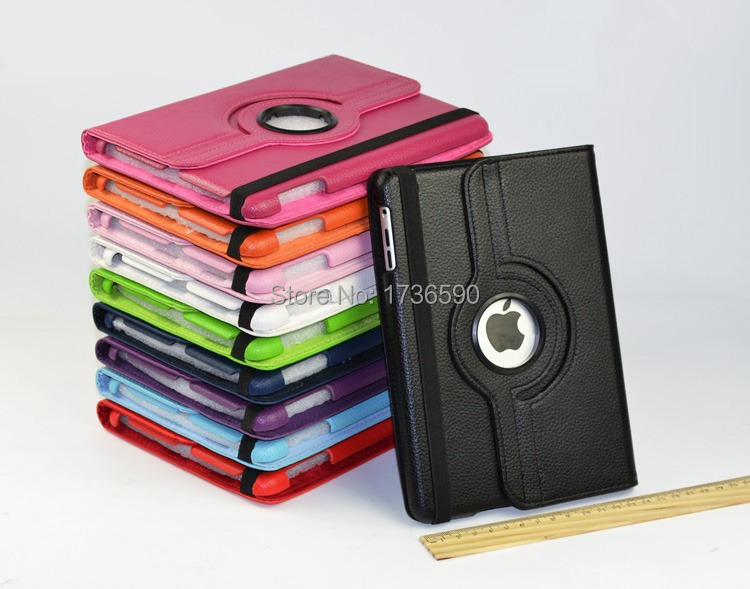 For Ipad 2/3/4 Flip PU Leather Smart Stand Magnet 360 Degree Rotating Case Cover For Ipad Free Shipping