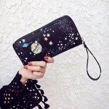 2017 new casual Women's purse cute starry zipper purse female wallet long wallet women