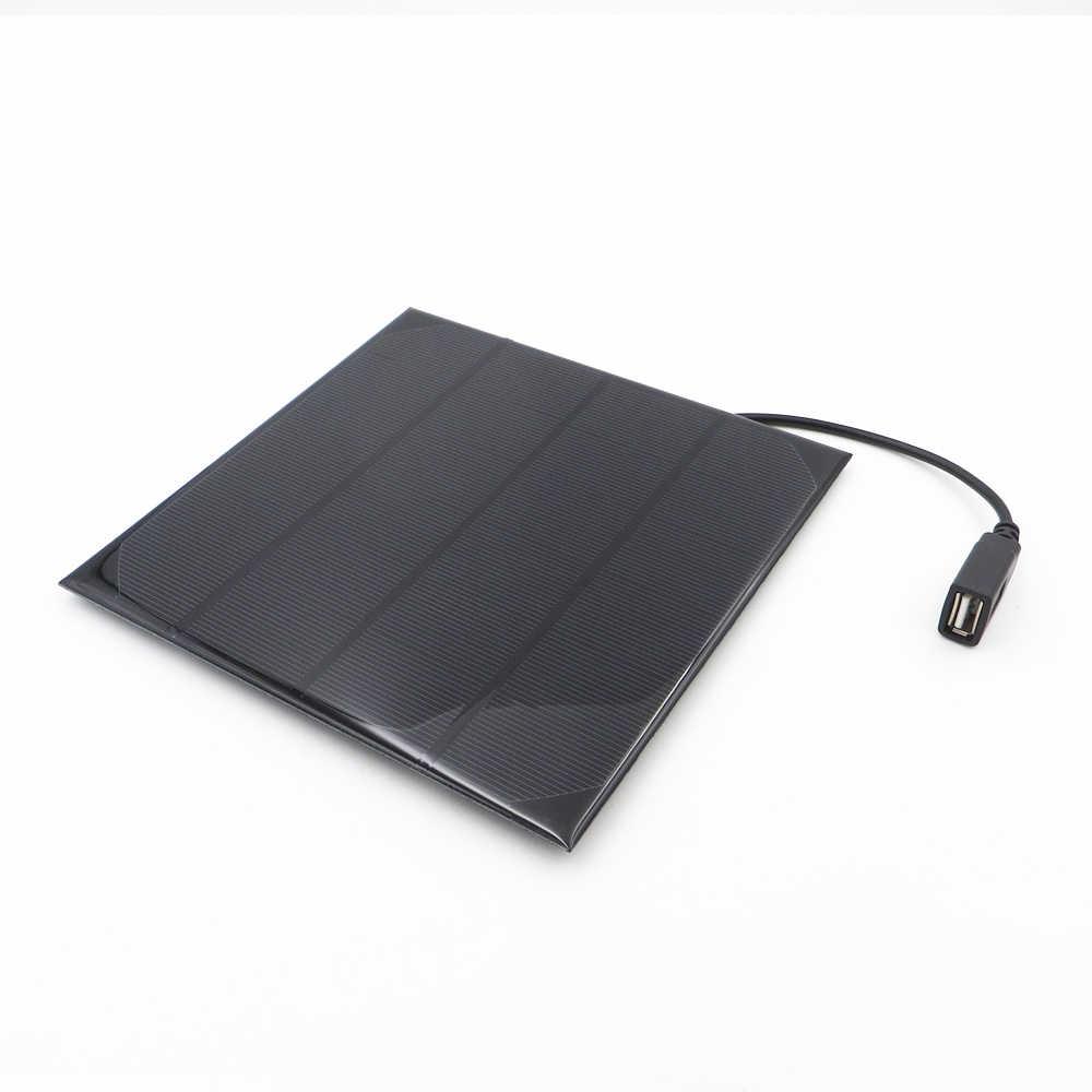 6 V لوحة طاقة شمسية شاحن 2 W 3 W 3.5 W 4.5 W 6 W الكريستالات الخلايا الشمسية DIY الشمسية تهمة البطارية 5 V كابل يو اس بي 30 سنتيمتر