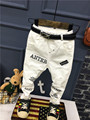 2017 Весной новые мальчики джинсы Дети белый мода Дети жан Брюки Дети Сломанные Отверстие Брюки Брюки 2-6years (Без ремня