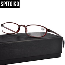 TR90 Reading Glasses Fashion Unisex Eyeglasses Oval Optical Frame Eyewear +100~+400  5272