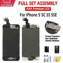 AAA Display für iPhone 5 5C 5S 5SE LCD Display Vollversammlung LCD Touch Screen Digitizer Voll Ersatz Pantalla + taste + Kamera