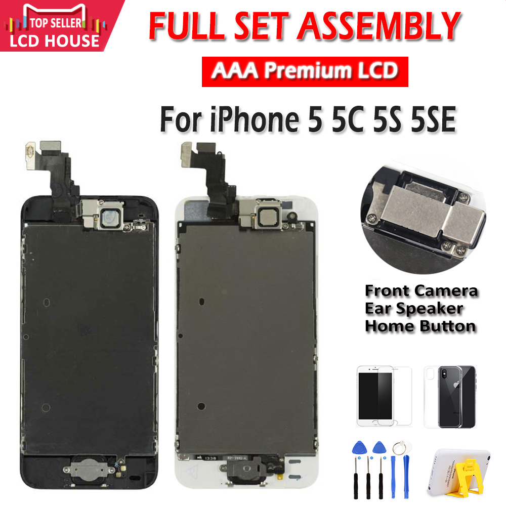 AAA Display for iPhone 5 5C 5S 5SE LCD Display Full Assembly LCD Touch Screen Digitizer Full Replacement Pantalla+Button+Camera(China)