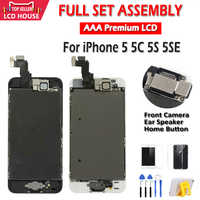AAA Display per iPhone 5 5C 5S 5SE Display LCD Assemblea Completa LCD Touch Screen Digitizer Completa Sostituzione Pantalla + pulsante + Macchina Fotografica