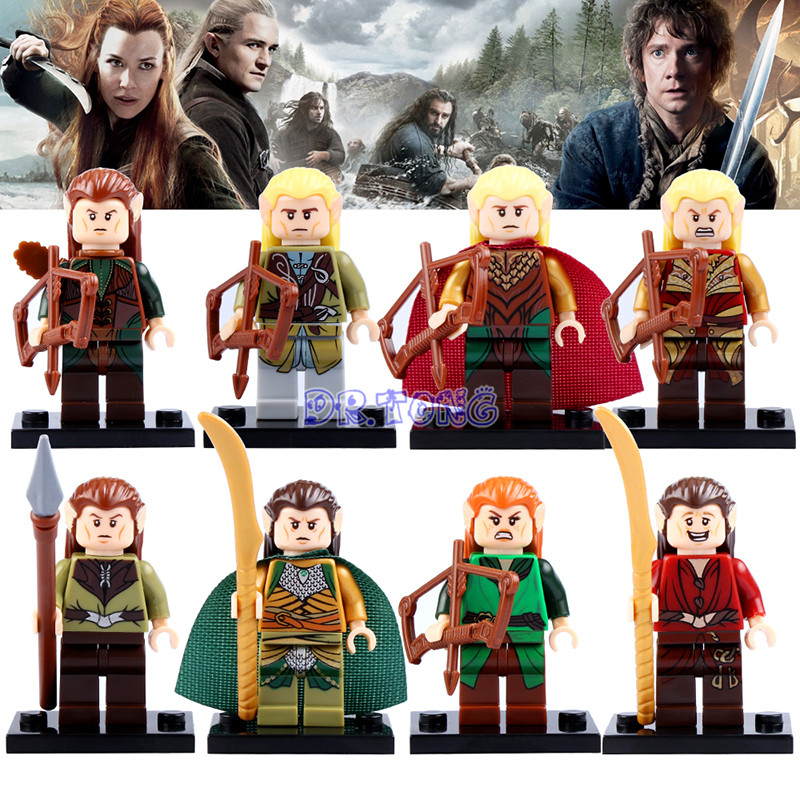 DR.TONG Hobbit Figures Mirkwood Elf Guard Helm's Deep Single Sale Lord of the Rings Mini Doll Building Blocks Child X'mas Toys hot sale the hobbit lord of the rings mordor orc uruk hai aragorn rohan mirkwood elf building blocks bricks children gift toys
