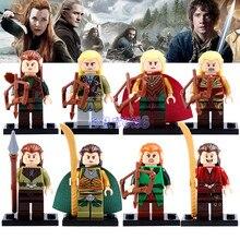 DR.TONG Hobbit Figures Mirkwood Elf Guard Helm's Deep Single Sale Lord of the Rings Mini Doll Building Blocks Child X'mas Toys