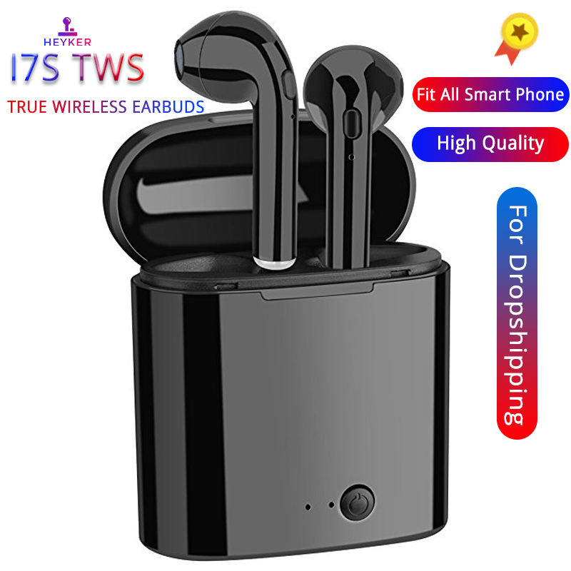 HEYKER i7s TWS Mini Bluetooth Wireless Earphones Earbuds With Charging Box Sports