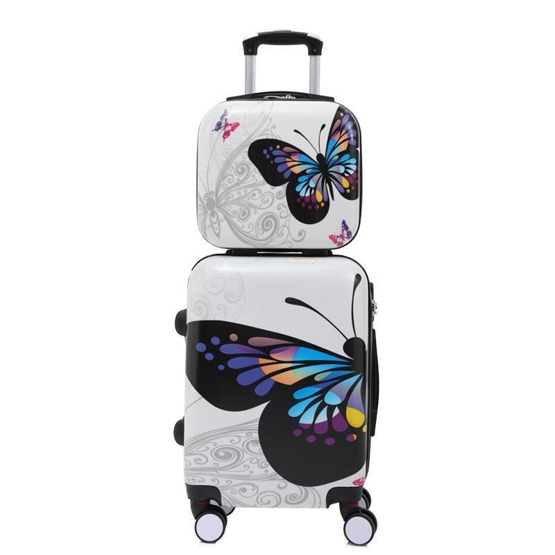 20 24 дюймовый цветной поездки модные чемоданы и дорожные сумки чемодан кабина maletas чемодан вализ koffer прокатки багажа ...