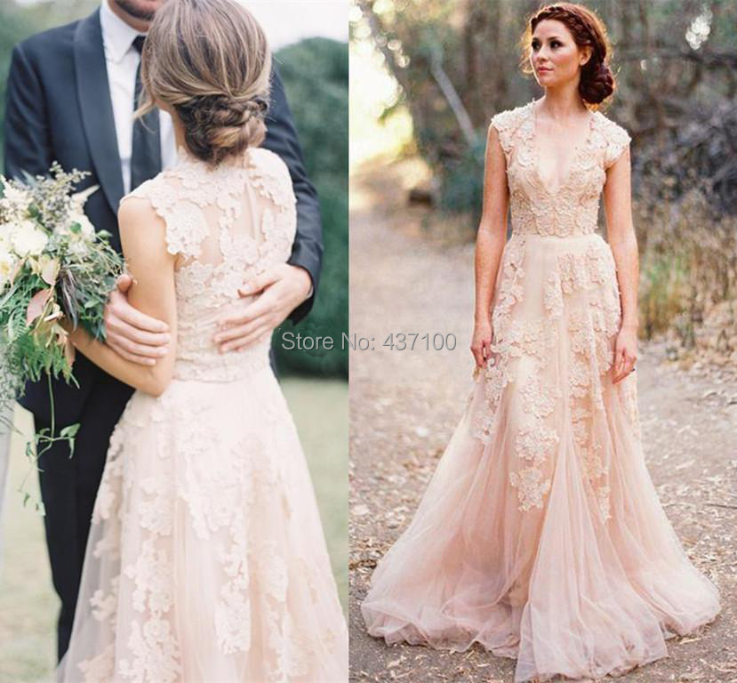 Popular Champagne Blush Wedding Dress-Buy Cheap Champagne Blush ...