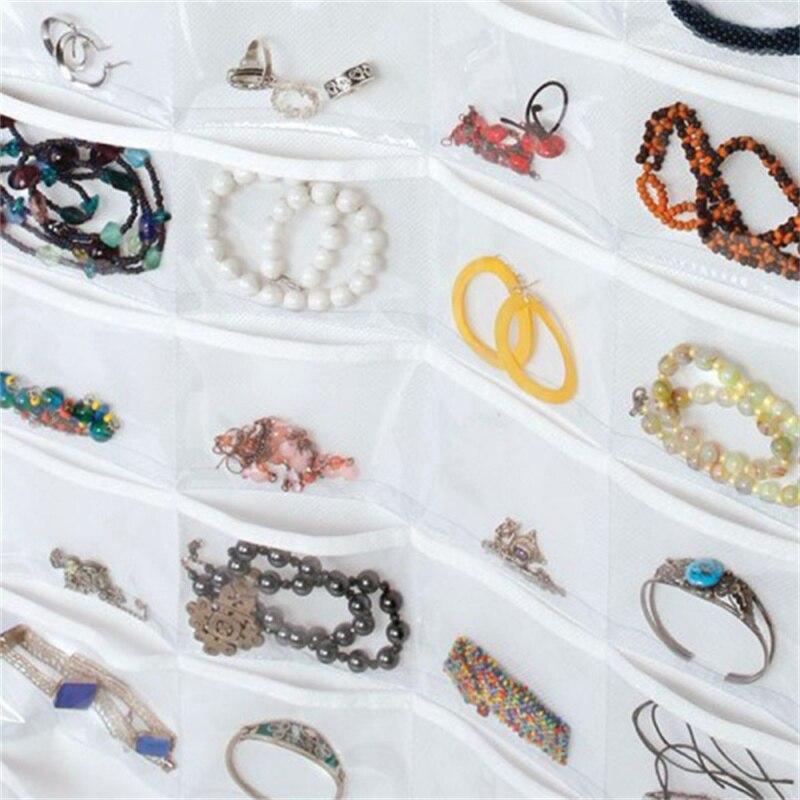 Double Sided 72 Pockets Hanging Jewelry Organizer Jewelry Display