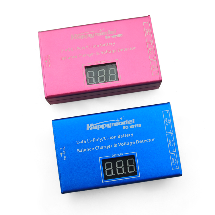 BC4S15D BC-4S15D 2-4S Battery Balance Charger & Voltage Detector Charging Adapter with LCD Display for LiPo Li-ion Battery