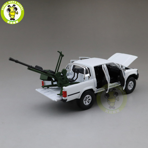 Image 4 - 1/32 Jackiekim Hilux Pick up Truck with Anti tank Gun Diecast Metal Model CAR Toys kids children Sound Lighting gifts