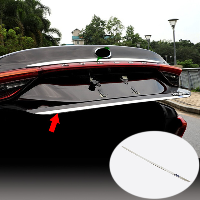 Stainless Steel For Toyota Avalon Car Accessories 2019 2020 Door Sticker Back Door Tailgate Cover Trim Car Exterior Styling 1pcs