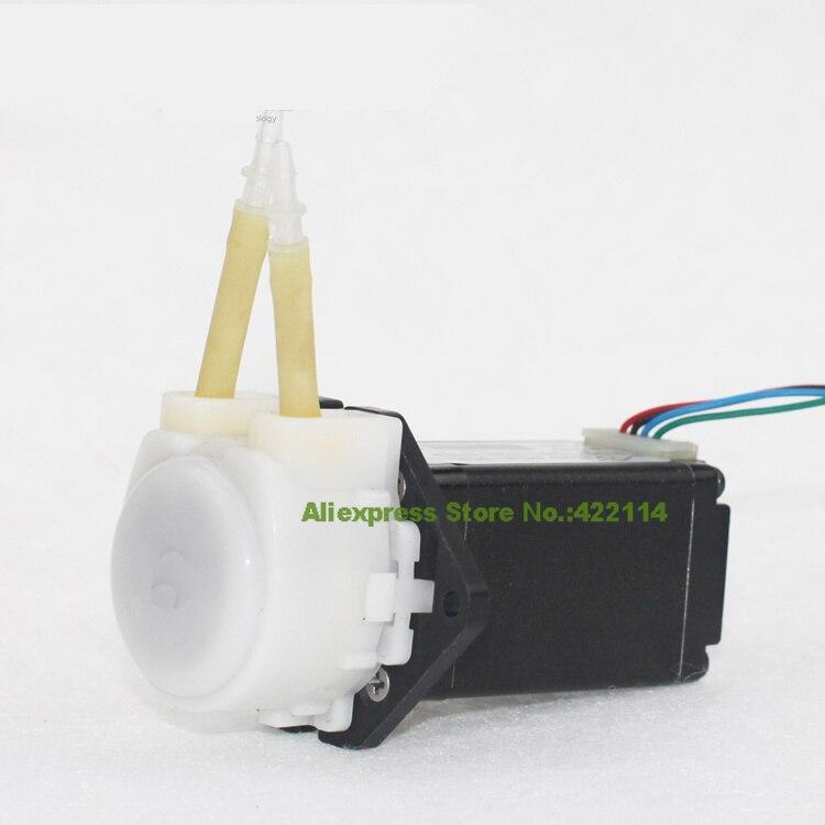 ФОТО Small pump stepper motor micro peristaltic pump titration laboratory precision metering pumps self-priming pump