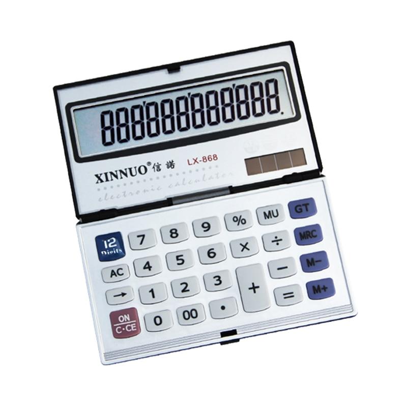 Lx868 12 Digit Calculator Cartridge Foldable Portable Computer Pocket Money Licable