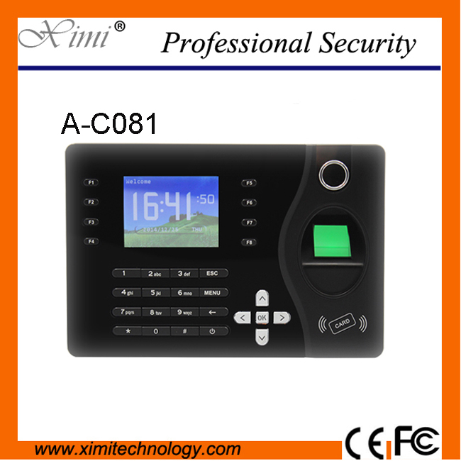 TCP/IP ports Biometric Fingerprint ID Card Reader Time Attendance Clock Employee Recorder A-C081 3 inch color screen m200 ic 13 56mhz smart card time attendance time recorder time clock with tcp ip