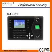 Portas TCP Biométrico Leitor de Cartão de IDENTIFICAÇÃO de Impressão Digital Gravador de Comparecimento Do Tempo da impressão digital Relógio Empregado A-C081