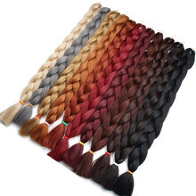 Silky Strands 82inch 165G Bulk Synthetic Braiding Hair Colors Gray Purple Pink Jumbo For Jumbo Braids High Temperature Fiber