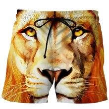 Jeansian Drawstring Mens 3D Printed Summer Beachwear Sports Shorts Swim Board Quick Dry Trunks XMP001