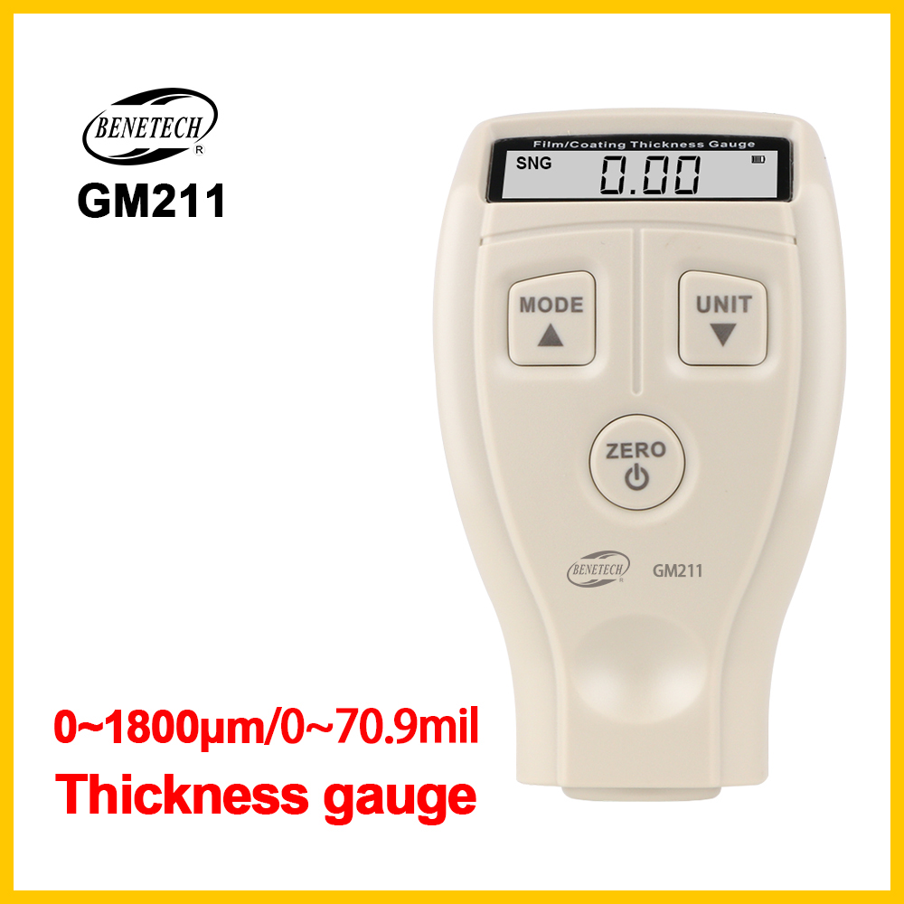 Digital Coating Thickness  Coating Thickness Gauge Tester Measuring Tool Width Measuring Instrument GM211-BENETECHDigital Coating Thickness  Coating Thickness Gauge Tester Measuring Tool Width Measuring Instrument GM211-BENETECH