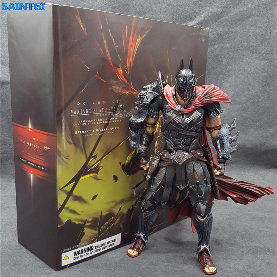 SAINTGI Batman v Superman Dawn of Justice Arkham Knight Spartiates warrior  DC PVC 22CM Action Figure Collection Model Kids Toy