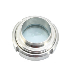 OD 25~159mm Sanitary Stainless Steel 304 Union Goggles Observation Port Mirror  Manhole Welding Sight Glass Pipeline Roun