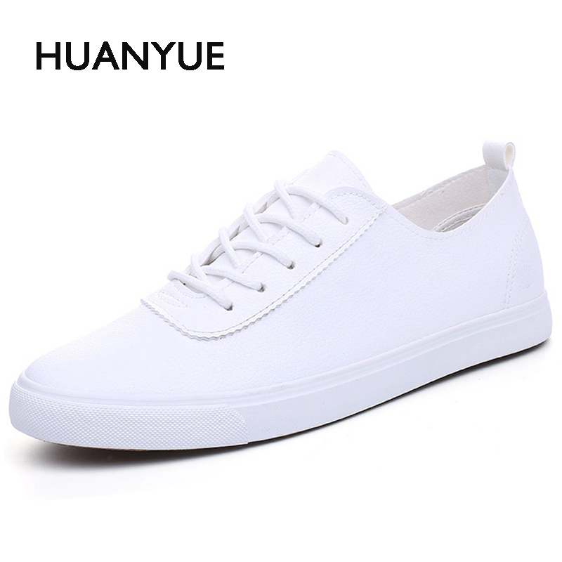 Summer Pu Leather Mens Shoes Breathable Men Casual Shoes Low Lace UP Men's Flat Shoes Zapatos Hombre Black White Men Shoe 39-44 top fashion shoes men mens canvas shoe chaussure homme leather business breathable spring autumn solid medium b m flat lace up