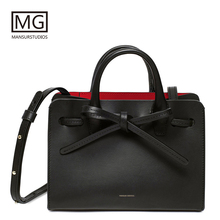 Mansurstudios Women Split leather casual Tote Bag, mansur  lady Sun Bags,gavriel girl handbag,free shipping